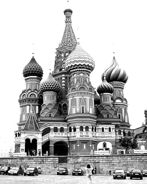 Moscow Poster featuring the photograph St. Basil's Cathedral 11 by Padamvir Singh