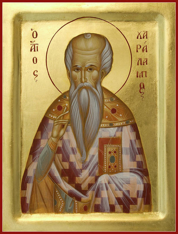 Saint Charalambos Poster featuring the painting St Charalambos by Julia Bridget Hayes