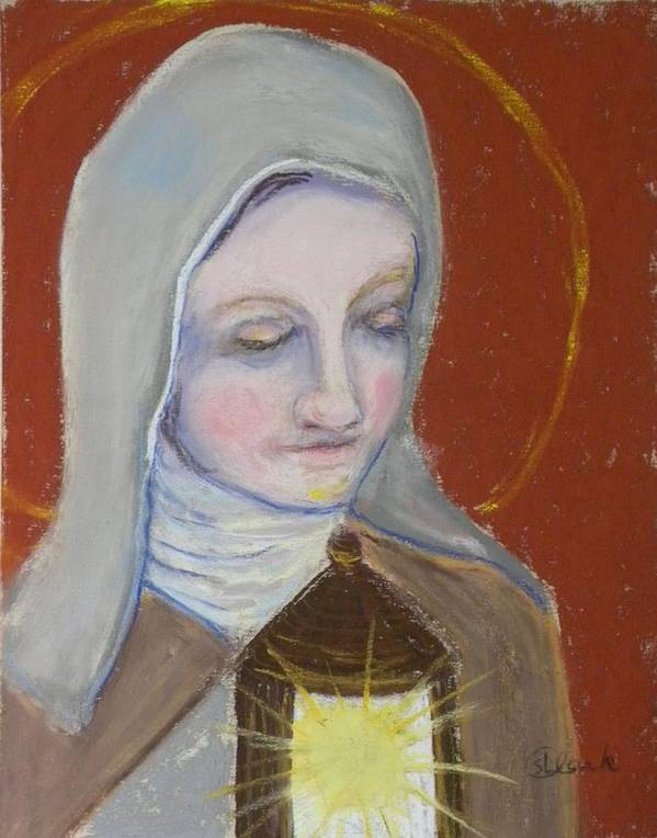 St. Clare Of Assisi Poster featuring the painting St. Clare Of Assisi II by Susan Clark