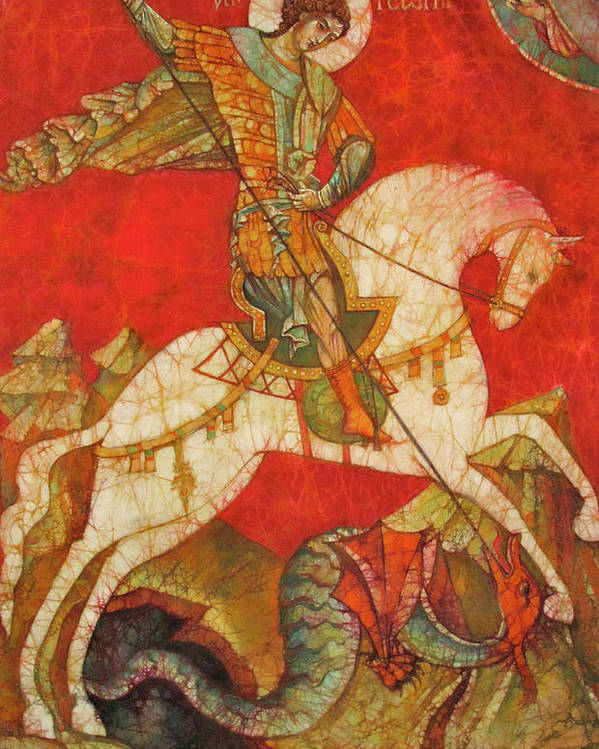 Fine Art Poster featuring the painting St George II by Tanya Ilyakhova
