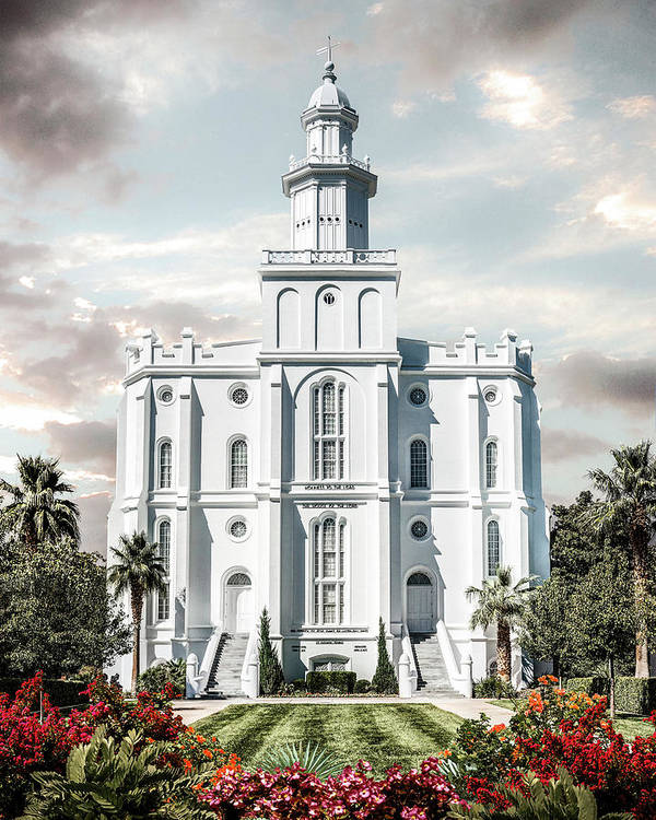 Saint Poster featuring the photograph St George Temple - Tower of the Lord by Brent Borup