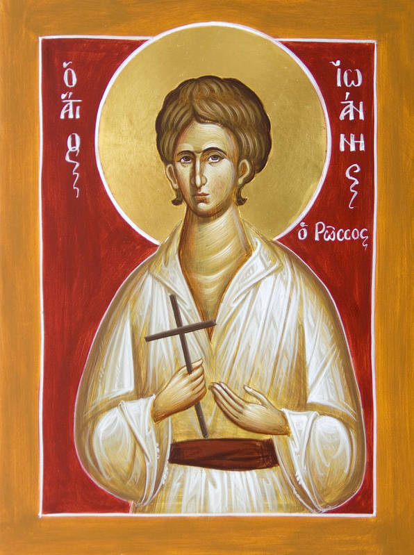 St John The Russian Poster featuring the painting St John The Russian by Julia Bridget Hayes