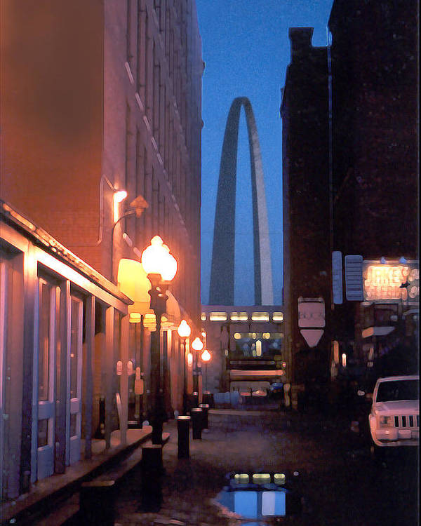 St. Louis Poster featuring the photograph St. Louis Arch by Steve Karol