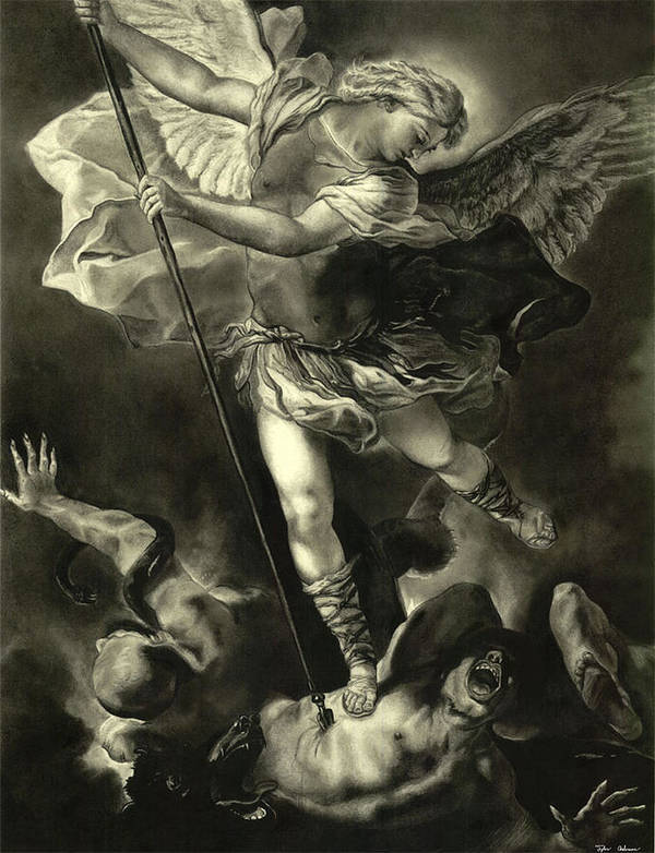 St Michael Vanquishing The Devil Poster By Tyler Anderson