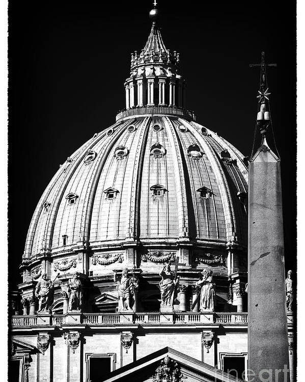 St. Peters Cupola Poster featuring the photograph St. Peters Cupola by John Rizzuto