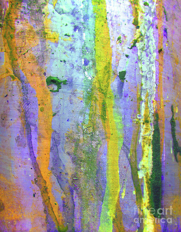 Abstract Poster featuring the photograph Stains Of Paint by Carlos Caetano
