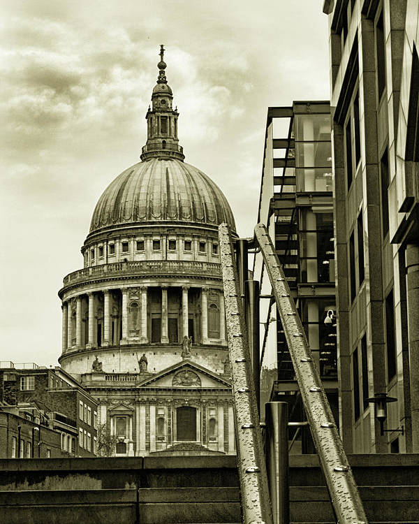 London Poster featuring the photograph Stairs To St Pauls by Martin Newman