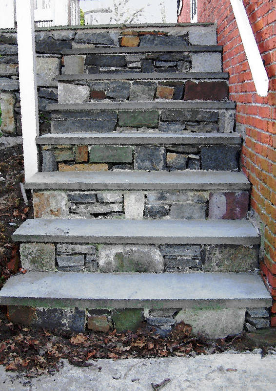 Stairs Poster featuring the photograph Stairs To The Plague House by RC DeWinter