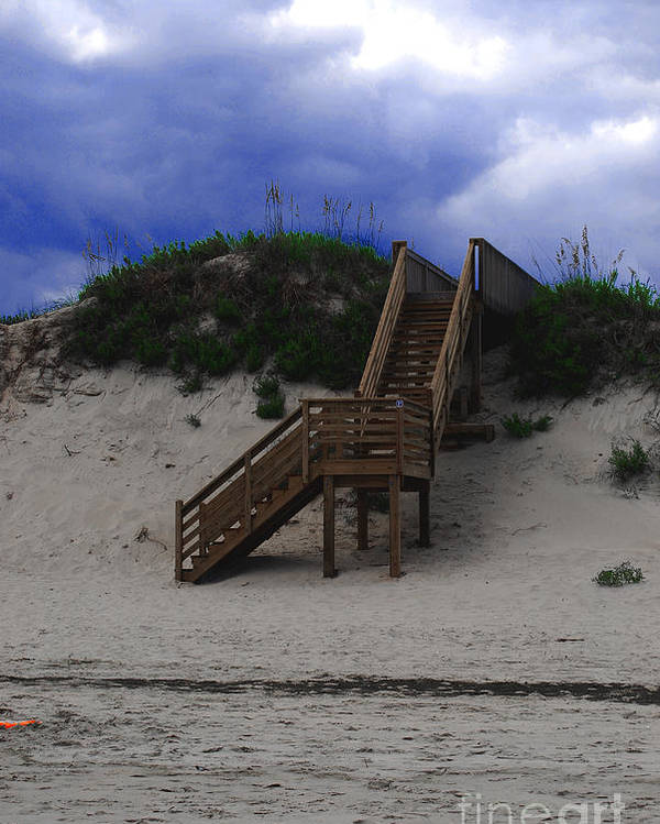 Dunes Poster featuring the photograph Stairway To Reality by Linda Mesibov