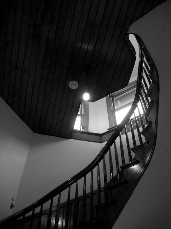 Stairs Poster featuring the photograph Stairwell To The Studio Crow's Nest by Robert Boyette