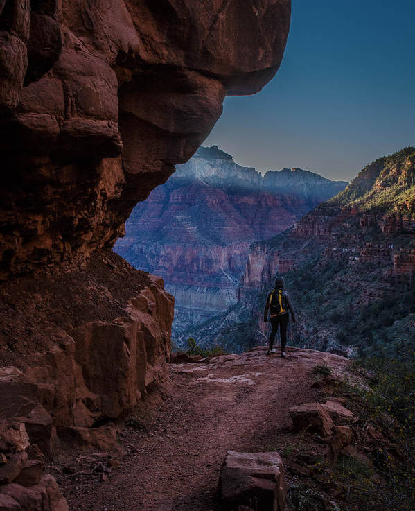Grand Canyon Poster featuring the photograph Standing On The Edge Of The Earth by Brandon Cunnigham