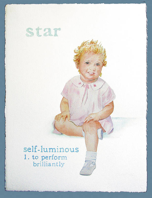 Star Poster featuring the painting Star by Janice Crow