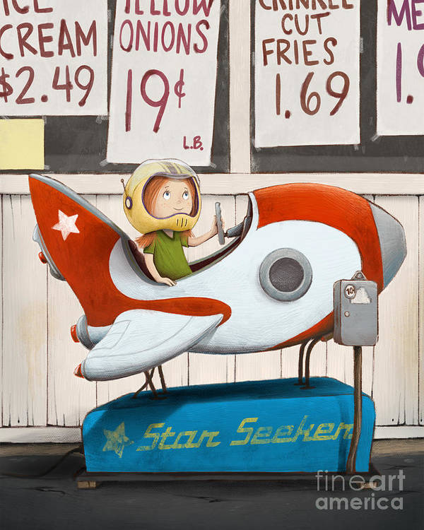 Dreams Poster featuring the digital art Star Seeker by Michael Ciccotello