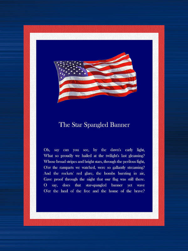 Star Spangled Banner Poster featuring the digital art Star Spangled Banner by Kenneth Hein