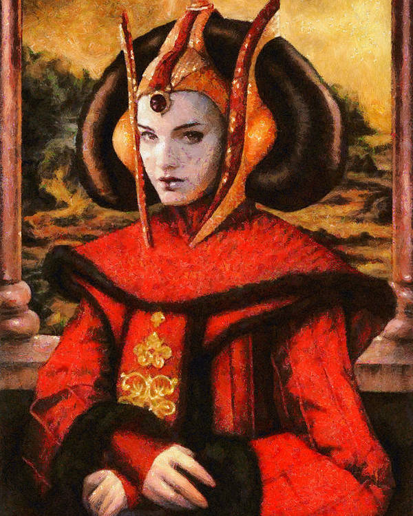 Execute Order 66 Poster featuring the painting Star Wars Queen Amidala Classical by Leonardo Digenio