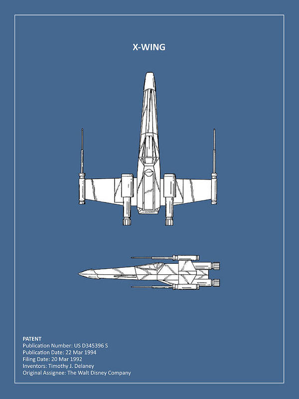 X-wing Poster featuring the photograph Star Wars X-wing Fighter by Mark Rogan