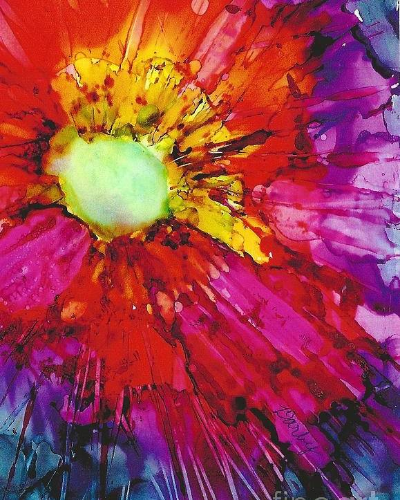 Starburst Poster featuring the painting Starburst by Sharon Darby