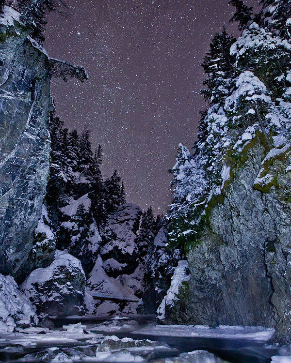 Stars Poster featuring the photograph Starry Creek by Brandon Broderick