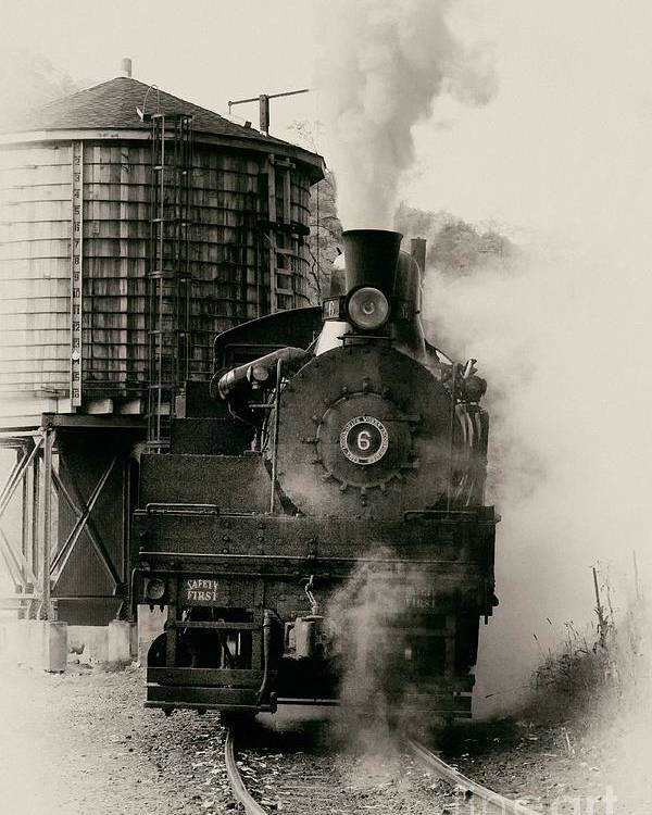 Antiquated Poster featuring the photograph Steam Train by Jerry Fornarotto