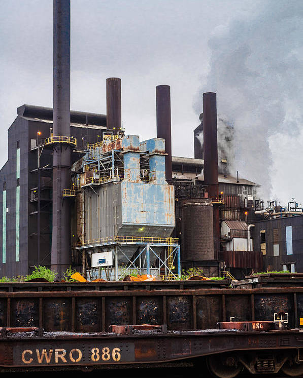 Cleveland Poster featuring the photograph Steel Mill by Stewart Helberg