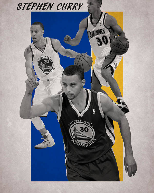 Curry Poster featuring the photograph Stephen Curry Golden State Warriors by Joe Hamilton