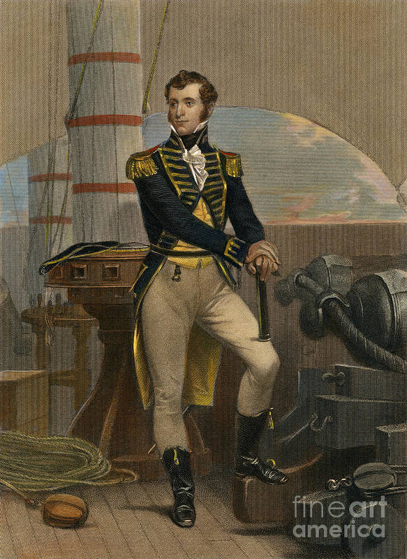 19th Century Poster featuring the photograph Stephen Decatur by Granger