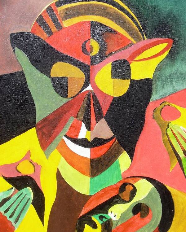 Stigma Poster featuring the painting Stigma by Surya Prakash Makarla