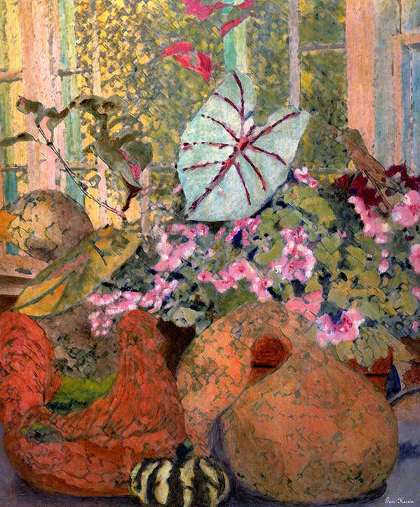 Still Life Poster featuring the painting Still Life At White Wagon Farm by Tom Herrin