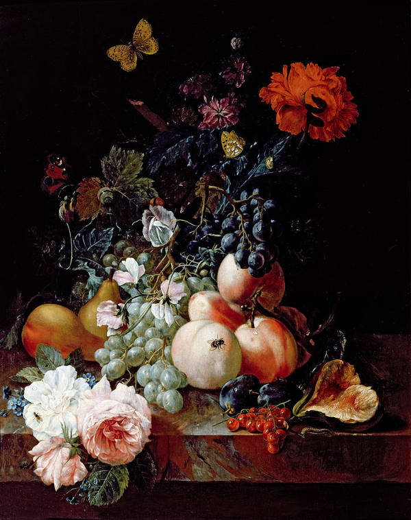 Still Poster featuring the painting Still Life by Johann Amandus Winck