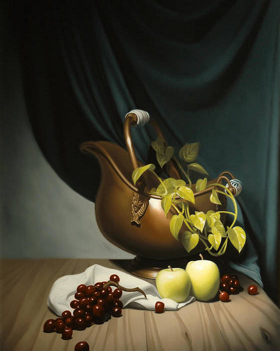 Still Life Painting Poster featuring the painting Still Life Painting Zanndam Evening by Eric Bossik