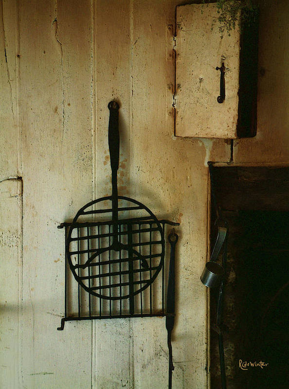Still Life Poster featuring the painting Still Life With Hearth Tools by RC DeWinter