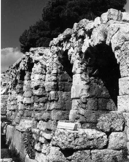Stoa Of Eumenes Poster featuring the photograph Stoa Of Eumenes Athens by Susan Chandler