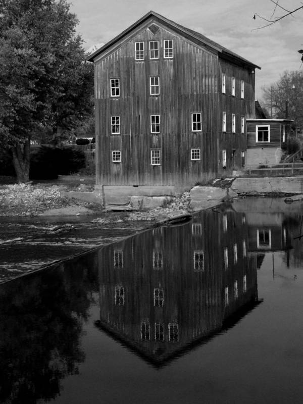 Fine Art Photograph Poster featuring the photograph Stockdale Mill by Michael L Kimble