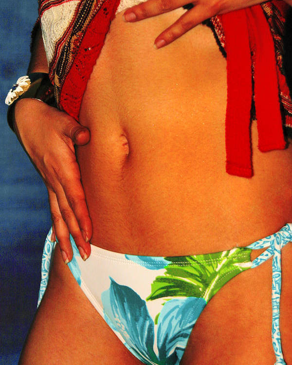 Female Poster featuring the photograph Stomach by Tom Miles