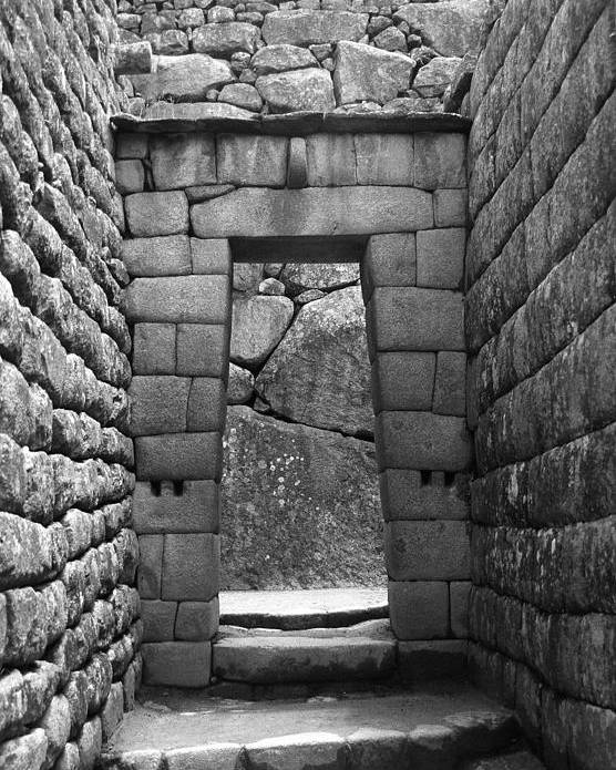 Machu Picchu Poster featuring the photograph Stone Door by Marcus Best