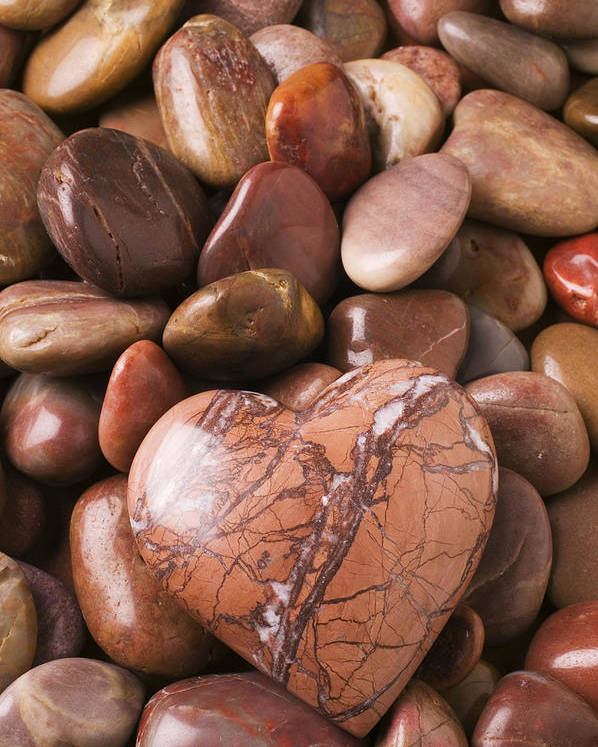 Heart Poster featuring the photograph Stone Heart by Garry Gay