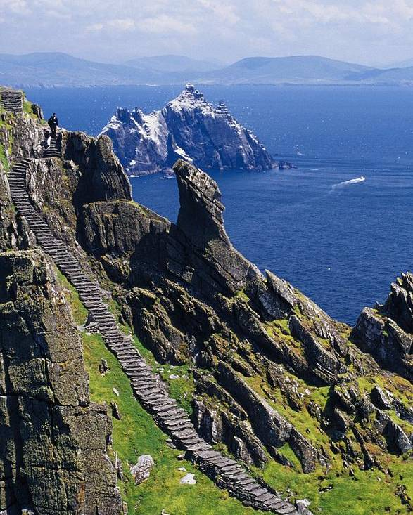 Coastal Poster featuring the photograph Stone Stairway, Skellig Michael by Gareth McCormack