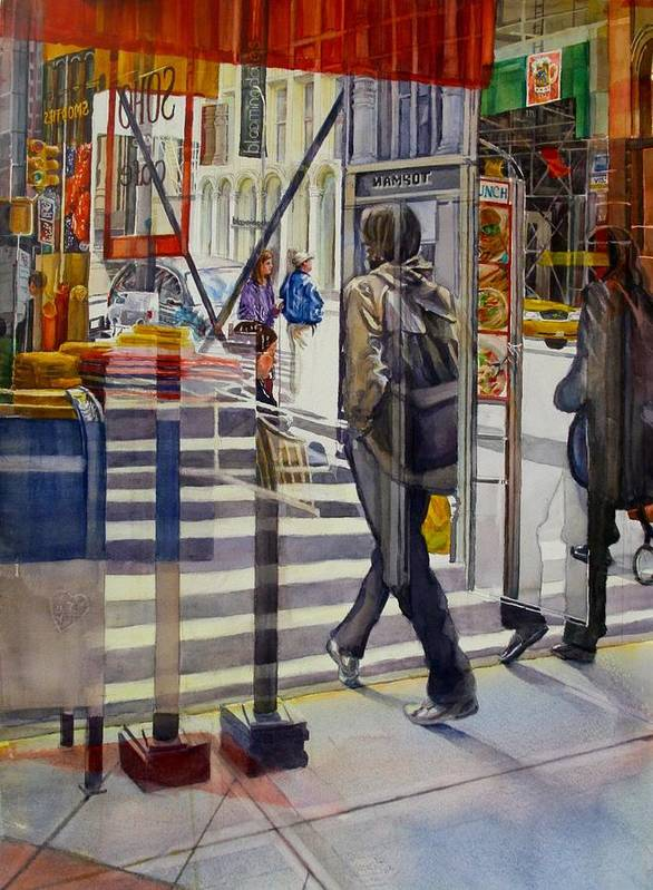 Reflection Poster featuring the painting Stop and Go by Carolyn Epperly