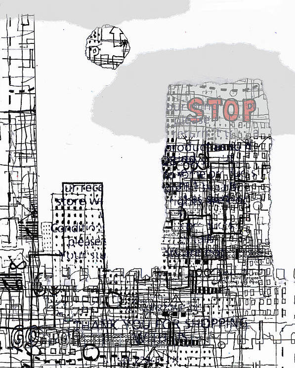 City Poster featuring the digital art Stop II by Andy Mercer