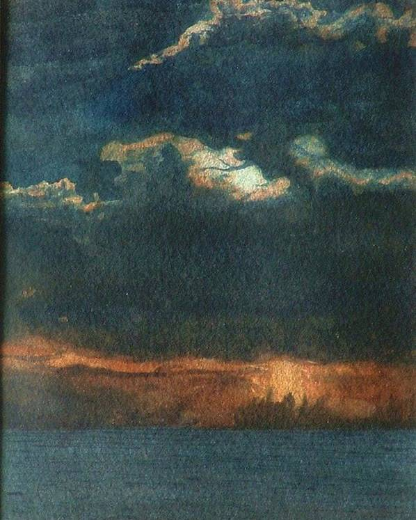 Landscape Poster featuring the painting Storm Brewing by Lynn ACourt