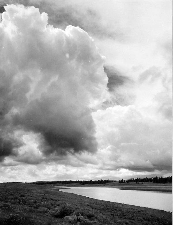 Landscape Poster featuring the photograph Storm Over The River by Allan McConnell