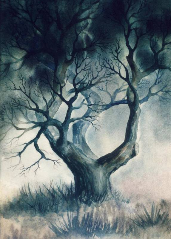 Tree Poster featuring the painting Storm Tree by JoAnne Corpany