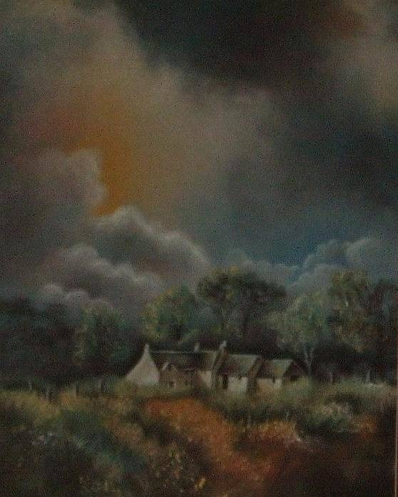 Landscape Poster featuring the painting Stormy Weather by Nellie Visser