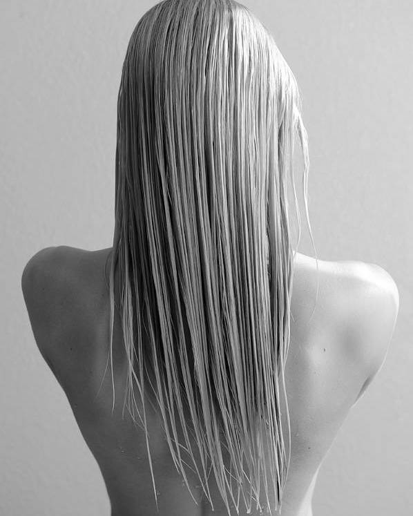 Long Blonde Hair Poster featuring the photograph Straight Hair by Bill Munster