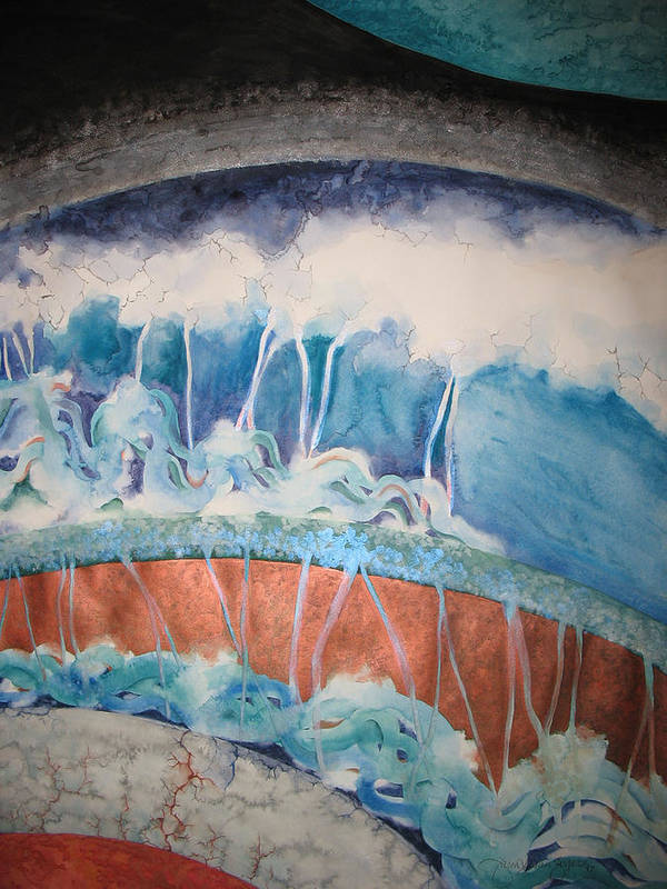 Watercolor Poster featuring the painting Strata - 7 by Caron Sloan Zuger