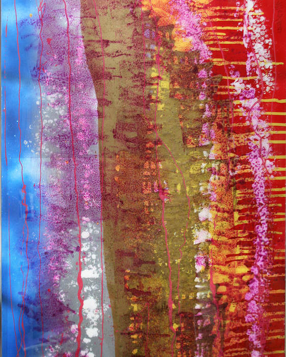 Abstract Poster featuring the painting Strata by Mordecai Colodner