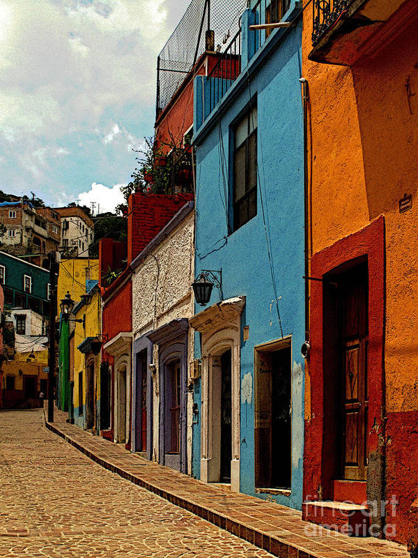 Darian Day Poster featuring the photograph Street Of Color Guanajuato 3 by Mexicolors Art Photography