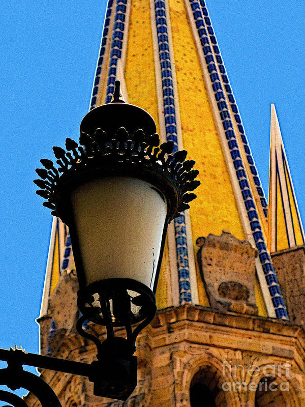 Mexico Poster featuring the photograph Streetlamp In Guadalajara by Mexicolors Art Photography