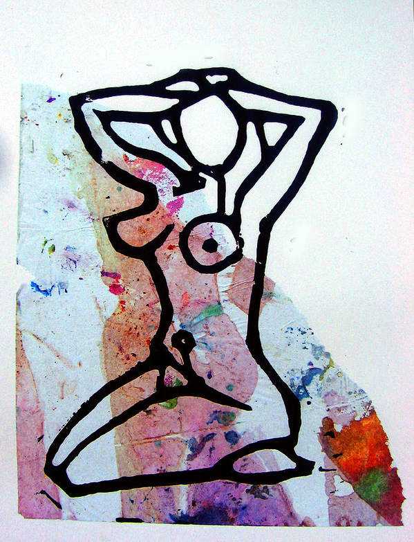 Collage Poster featuring the mixed media Stretching 2 by Adam Kissel