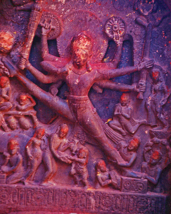Vishnu Poster featuring the photograph Striding Vishnu by Omar Shafey